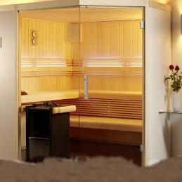 Aurora Sauna-Set Fronteinstieg B x T x H 210x202x200 finnische Sauna 7,5kW