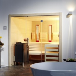 Variante2: BxTxH 210x210x200cm Finn. Sauna 7,5kW