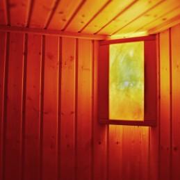 Salzkristalllampe Eigenherstellung Saunabeleuchtung doppelt
