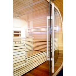 Sauna Türgriff Holzgriff Ahorn Glas Tür Saunatür außen