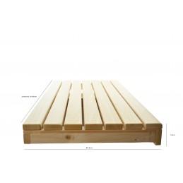 Abachiholz Saunabank Saunaholz 1 cm