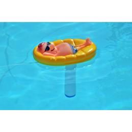 Wasserthermometer Mann in Pool Schwimmbad