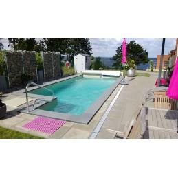 Kunststoff Rechteckbecken Polypropylen Pool Eck-Treppe 800x375x150cm