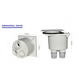 Kabelanschluss- Dose für Unterwasserscheinwerfer ABS weiß