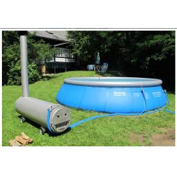 Holz - Poolofen 70kW für Pool über 15m³