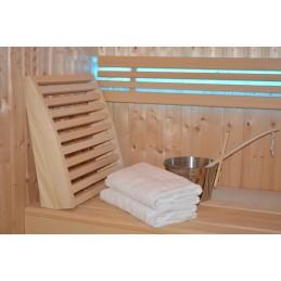 Sauna Rückenlehne aus Abachiholz verstellbar