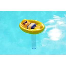 Wasserthermometer Mädchen in Pool Schwimmbad
